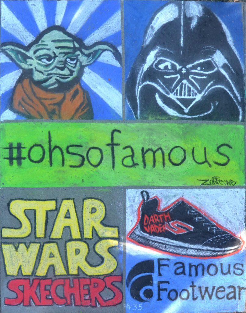An image of star wars chalk art
