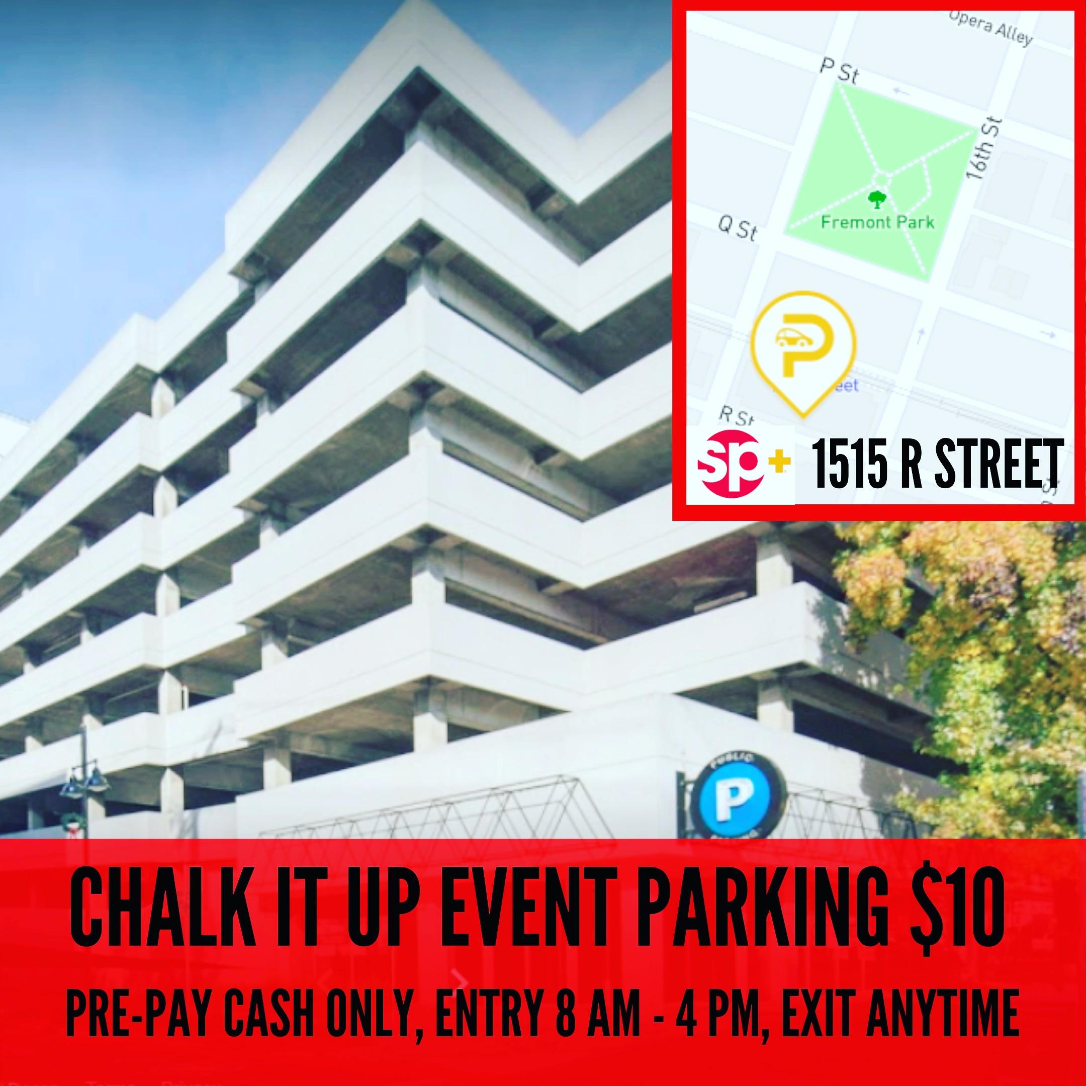 chalk it up parking $10 banner