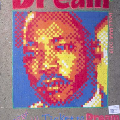 Sidewalk Chalk Art - MLK