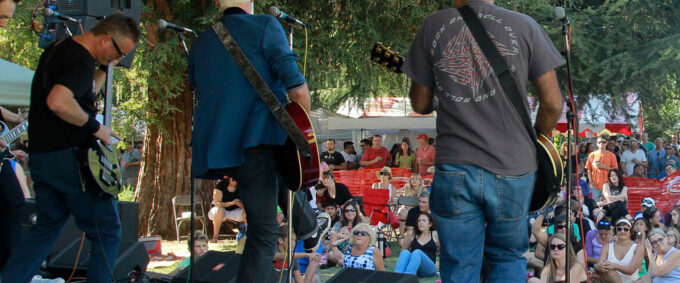 an image of a band playing at the chalk it up festival