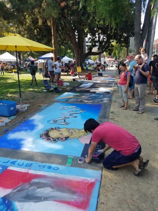 Chalk Artist Nestor Mendoza